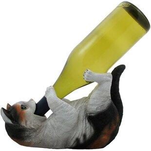 Damiane Faux Kitty Cat 1 Bottle Tabletop ..