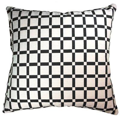 Checkerboard 100% Cotton Throw Pillow