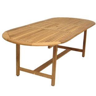Affordable Bridgepointe Teak Dining Table By Rosecliff Heights