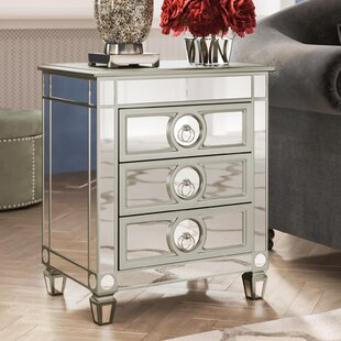 Hall Mirrored 3 Drawer Accent Chest by Willa Arlo Interiors
