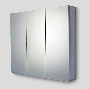 Inexpensive Urban Edge Mirror Door 28 x 26 Surface Mount Frameless Medicine Cabinet BySymple Stuff