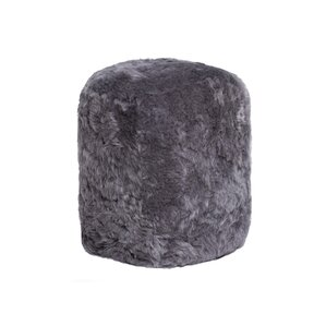 Stump Sheepskin Pouf Ottoman by Natural Rugs