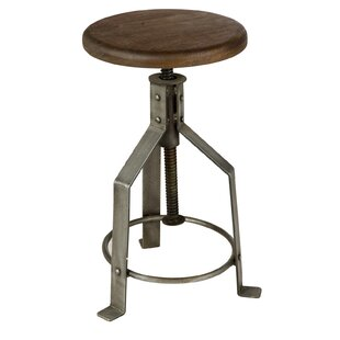 Fareham Height Adjustable Swivel Bar Stool By Williston Forge