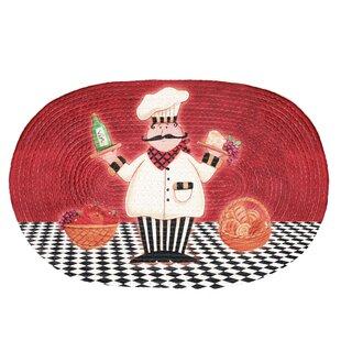 Merveilleux Red Chef Buono Appetito Area Rug