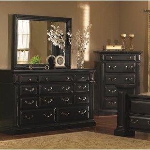 Newark 11 Drawer Dresser with Mirror by Fleur De Lis Living