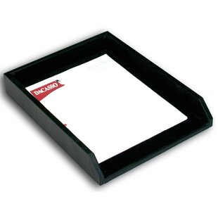 Dacasso 1000 Series Classic Leather Front-Load Letter Tray in Black