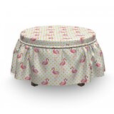 Exotic Indigenous Birds Ottoman Slipcover (Set of 2) by East Urban Home