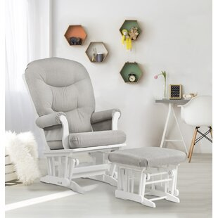 Sleigh Frame Glider and Ottoman by Dutailier