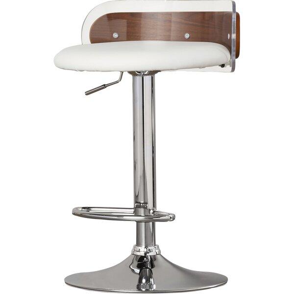 Awe Inspiring Modern Contemporary Polished Nickel Bar Stool Allmodern Machost Co Dining Chair Design Ideas Machostcouk