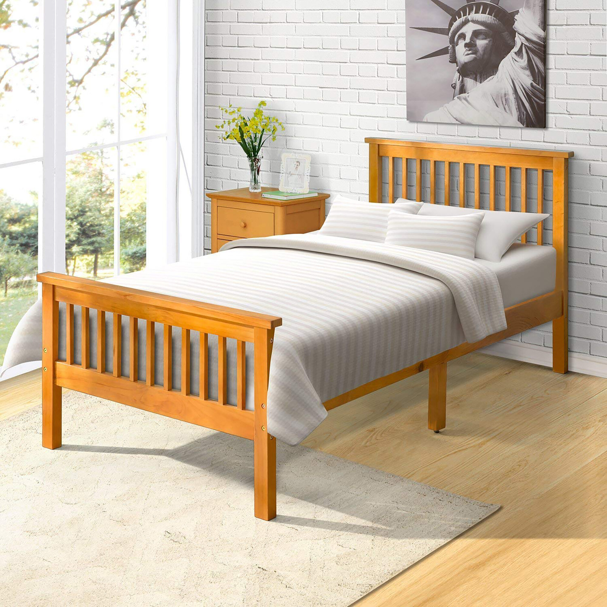 August Grove Malibu Wood Twin Platform Bed Wayfair