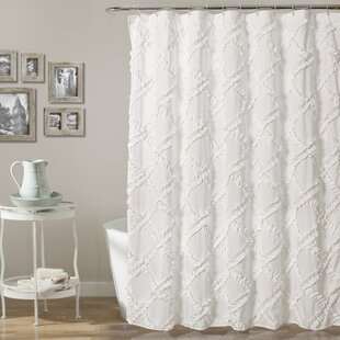 Rustic White Shower Curtains