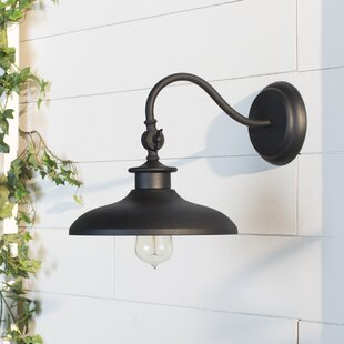Tennyson 1-Light Outdoor Barn Light By Beachcrest Home Outdoor Lighting