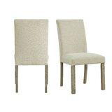Steede Upholstered Parsons Chair in Natural (Set of 2) by Gracie Oaks