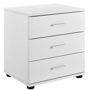 Adelchi 3 Drawer Bedside Table By 17 Stories