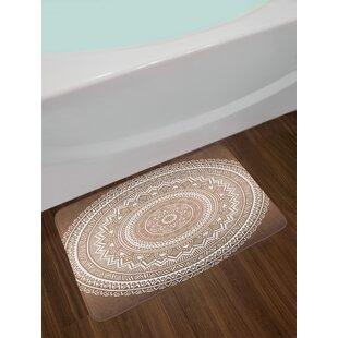 Mandala Pattern Floral Bath Rug