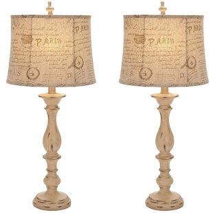 Urban French Connection Candlestick Style 34 Table Lamp (Set of 2)