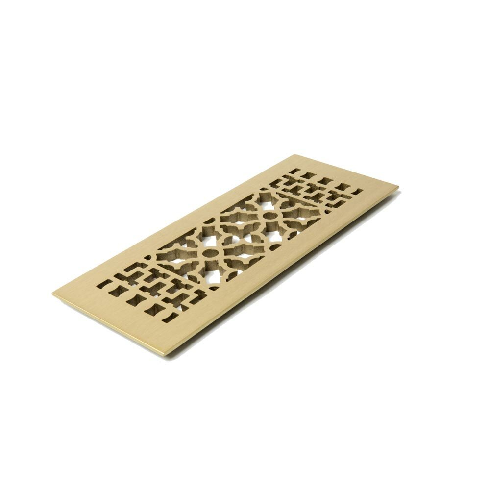 Reggio Register Scroll Series 12 In X 4 In Brass Grille With Mounting Holes Wayfair