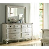 Ryleigh 8 Drawer Double Dresser with Mirror by One Allium Way®