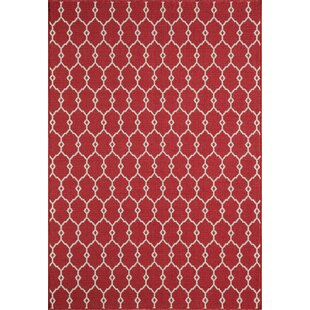 Halliday Red Geometric Indoor/Outdoor Area Rug