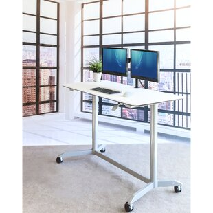Stephany Pneumatic Standing Desk by Symple Stuff