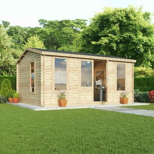 Barrons 16 X 13 Ft. Tongue And Groove Log Cabin By Sol 72 Outdoor