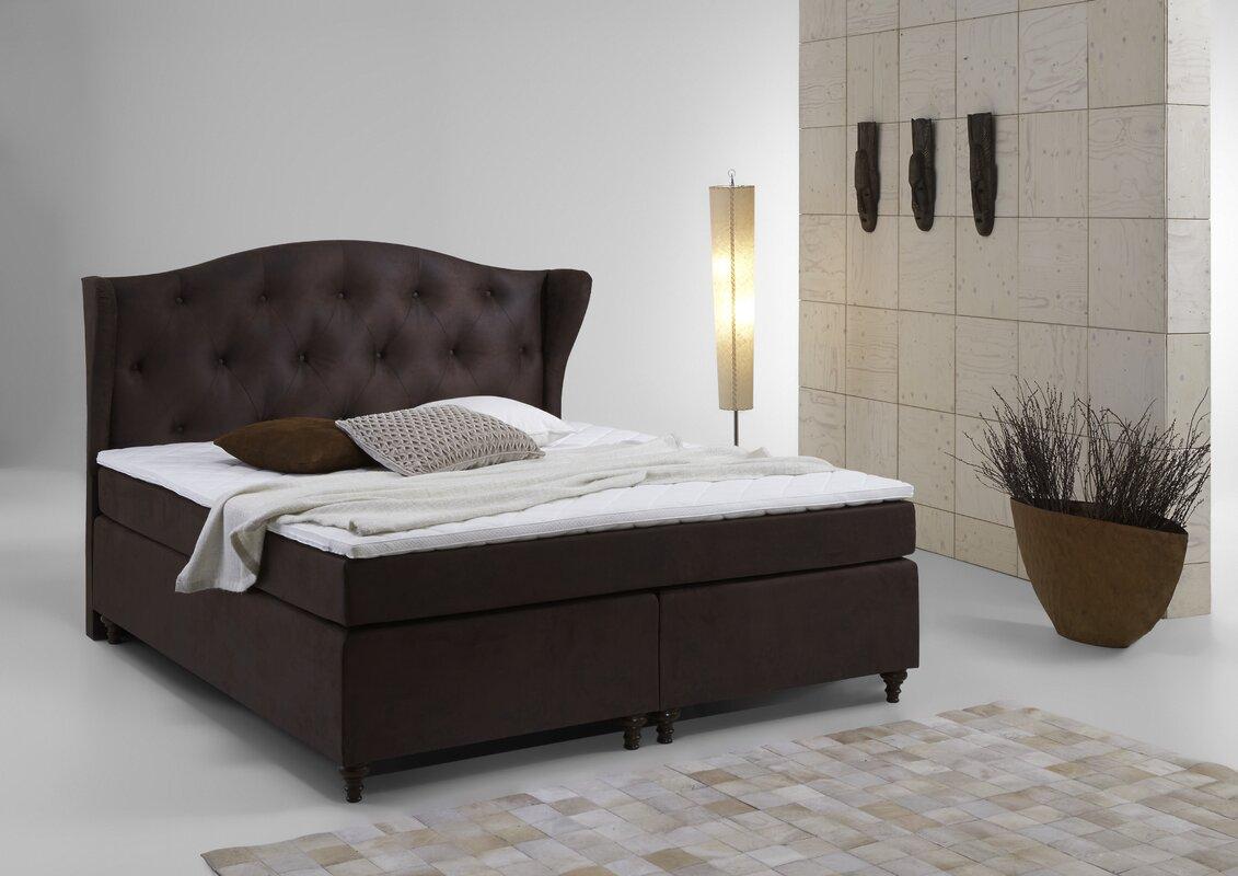 atlantic home collection boxspringbett rex mit topper. Black Bedroom Furniture Sets. Home Design Ideas