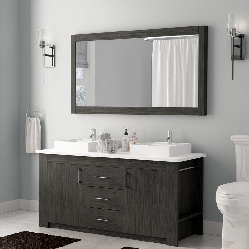 Glen Ridge 60 Double Bathroom Vanity Set With Mirror
