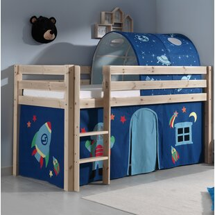 Ethridge European Single Mid Sleeper Bed With Textil Set By Zoomie Kids