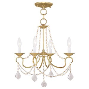 Devana 4-Light Crystal Chandelier