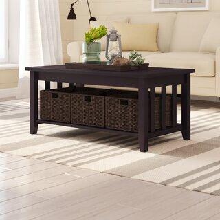 Westlock Coffee Table by Beachcrest Home SKU:AA792657 Guide