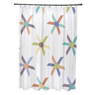 Cedarville Polyester Pinwheel Geometric Single Shower Curtain