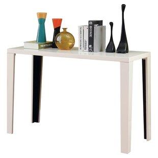 Modern white console table Mirror Set Quickview Black White Allmodern Modern Contemporary White Lacquer Console Table Allmodern