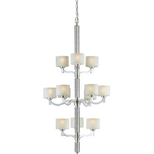 Winston Porter Vanzandt 12-Light Shaded Chandelier