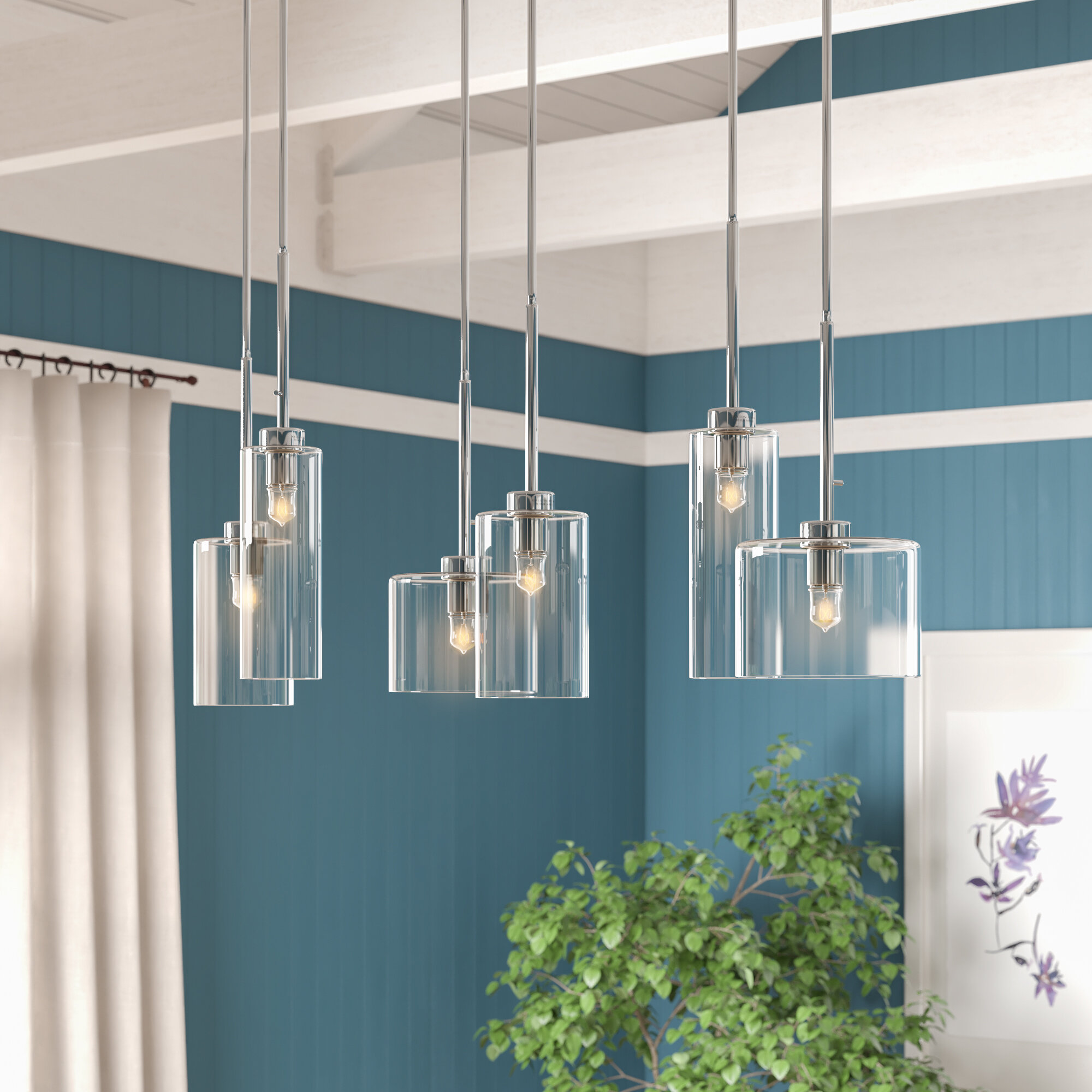Iverson 6 Light Kitchen Island Pendant Reviews Joss Main