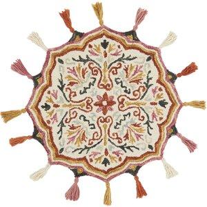 Rashida Hand-Hooked Wool Ivory/Sunset Area Rugu00a0