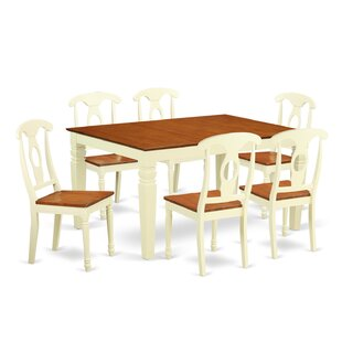 Beley 7 Piece Extendable Dining Set DarHome Co
