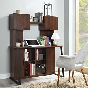 Altra Furniture Credenza Desk with Hutch