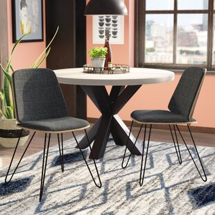 Callendale Mid-Century Modern Upholstered Dining Chair (Set of 2) Wade Logan