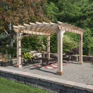 11.5 Ft. W x 13.5 Ft. W Solid Wood Pergola by YardCraft