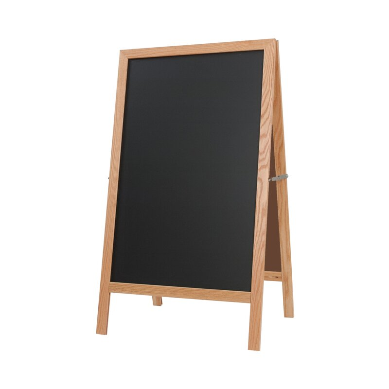 new york blackboard magnetic free standing chalkboard wayfair