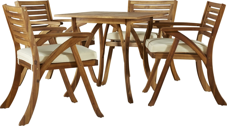 mercury row ajax 5 piece dining set with cushion reviews wayfair default name