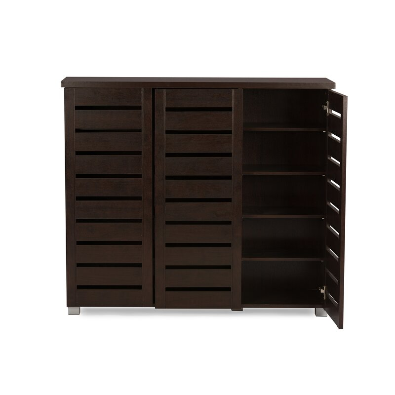 20 Pair Slatted Shoe Storage Cabinet Darby Home