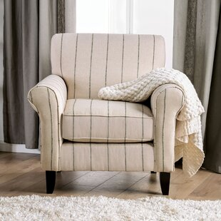 Stowmarket Striped Armchair by Alcott Hill