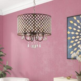 Gautier 4-Light Drum Chandelier by Willa Arlo Interiors