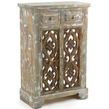 Bilbania 2 Drawer Accent Cabinet by Bungalow Rose