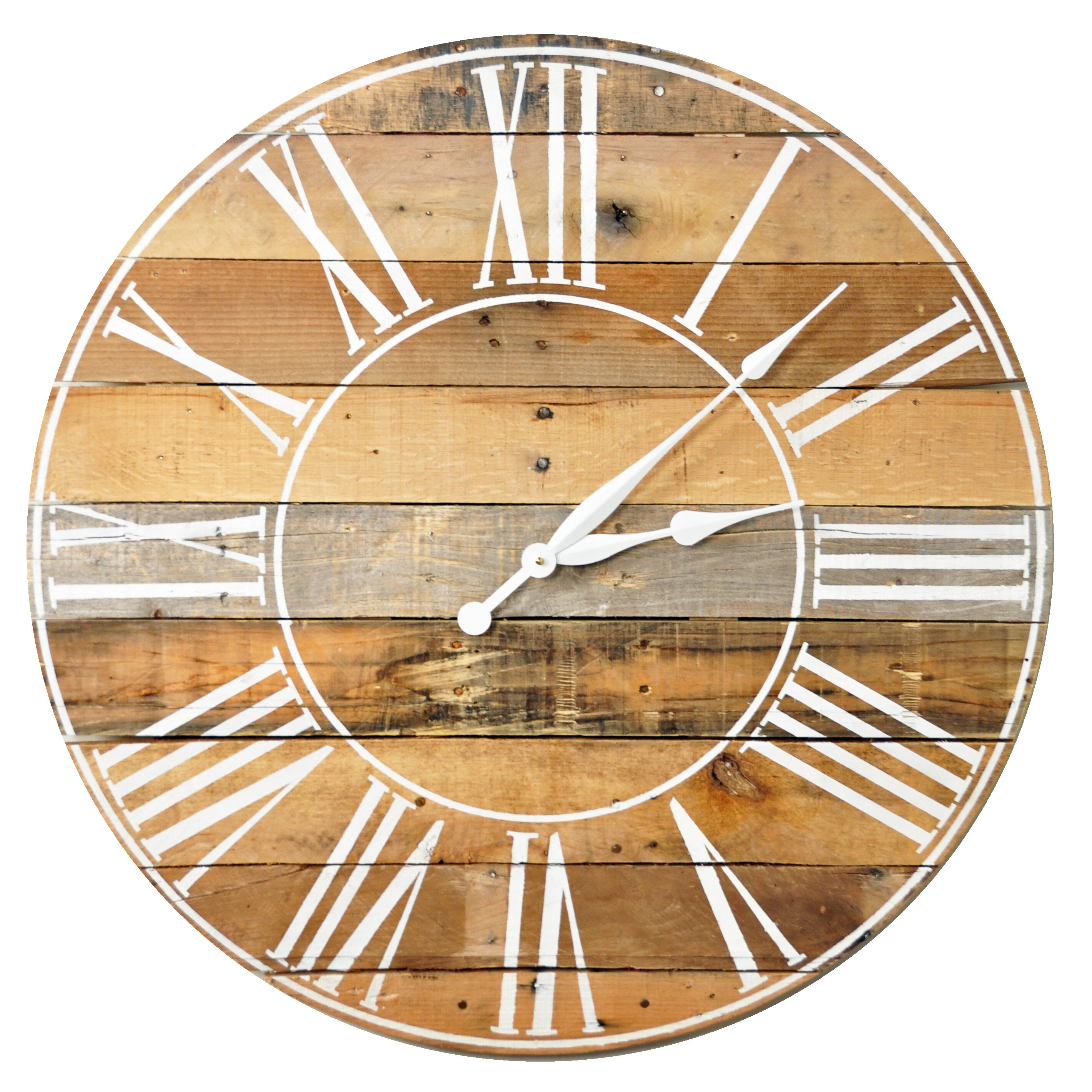 August Grove Oversized Oshiro 30 Wall Clock Reviews Wayfair