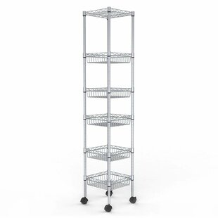 Rebrilliant Aubree 6-Tier Sturdy Wire Shelving Steel Baker's Rack