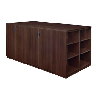 Linh Stand Up Quad Storage Cabinet with Bookcase End by Latitude Run