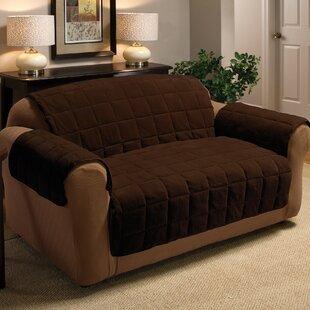 Burnham Box Cushion Loveseat Slipcover By Red Barrel Studio