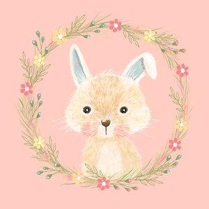 Brenna Summer Bunny by Tina O'Neill Finn Stretched Canvas Wall Art